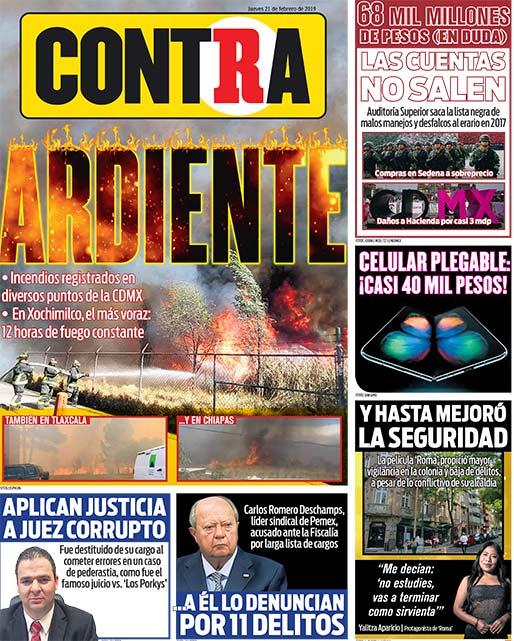 Portada Contra 21-02-2019