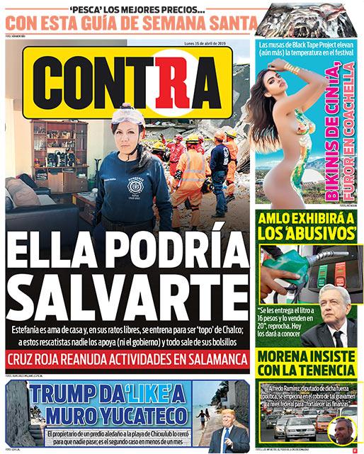 Portada Contra 15-04-2019