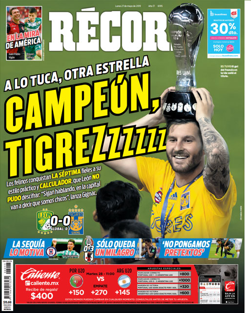 Tigres, Campeón