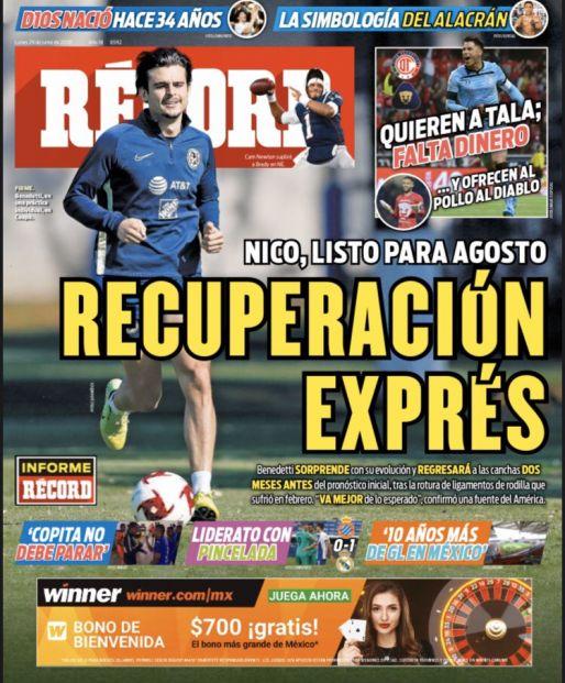Nico Benedetti, recuperación exprés