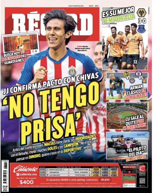 JJ Macías confirma pacto con Chivas
