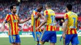 Valencia celebra gol sobre Sevilla