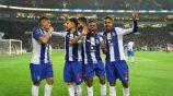 Jugadores del Porto celebran triunfo contra Braga