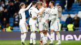 Jugadores del Real Madrid durante un partido de La Liga