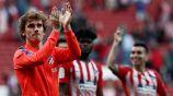 Griezmann aplaude a la afición del Atlético de Madrid