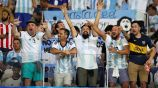 Aficionados de Argentina apoyan en la Copa América