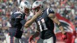 Tom Brady celebra un touchdown junto a Julian Edelman