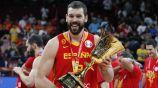 Marc Gasol celebra el campeonato del mundo con España