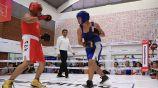 Una de las peleas en la Olimpiada Comunitaria