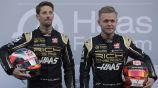 Magnussen y Grosjean previo a las prácticas en Cataluña