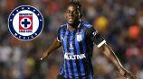 Ake Loba festeja un gol con Querétaro