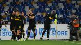 Jugadores del Inter de Milan celebrando un gol ante Napoli