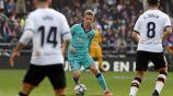 Frankie De Jong durante el partido entre Valencia y Barcelona
