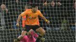 Raúl celebra un gol ante el City