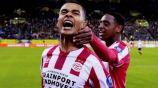 Cody Gakpo celebra una anotación del PSV