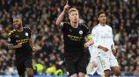 Kevin De Bruyne celebra una anotación con el Manchester City