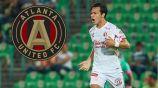 Cubo Torres festeja un gol en su paso por Xolos de Tijuana