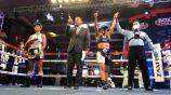 Jackie Nava celebrando su victoria