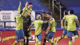 Seattle Sounders festeja una de sus anotaciones contra el LAFC