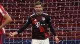 Thomas Müller durante un partido con Bayern Munich