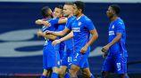 Jugadores de La Máquina festejan gol de Piojo Alvarado