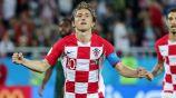 Modric en partido con Croacia
