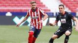 Héctor Herrera durante un partido con Atlético de Madrid