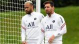 Neymar y Messi en un entrenamiento