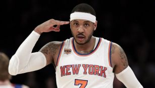 Carmelo Anthony en uhn juego de New York Knicks