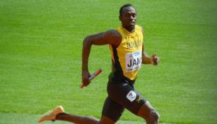 Usain Bolt, en una prueba de relevos
