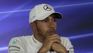 Hamilton, en conferencia de prensa