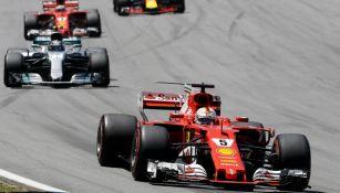 Sebastian Vettel, durante el GP de Brasil