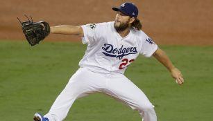Clayton Kershaw en un partido de Dodgers