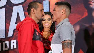 Orlando Salido y Micky Román en conferencia de prensa