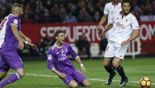 Cristiano Ronaldo en el juego en el que el Real Madrid perdió el invicto
