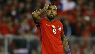 Vidal, durante el Chile vs Ecuador de las Eliminatorias Mundialistas