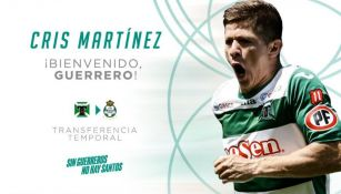 Llamado de bienvenida a Cris Robert Martínez Escobar por parte de Santos