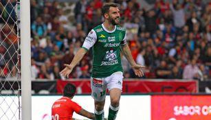 Boselli festeja su gol contra el Atlas en el C2018