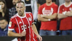 Ribéry, durante partido con el Bayern Munich