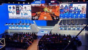 Así lucía la Blizzard Arena durante la partida entre Boston y New York