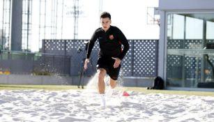 Coutinho, entrena en solitario en la Ciudad Deportiva del Barcelona