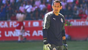 Rodolfo Cota, durante la Jornada 1 con Chivas
