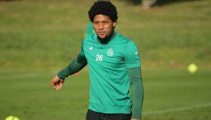 Vagner Dias, durante un entrenamiento con Saint-Étienne