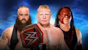 Strowman, Lesnar y Kane lucharan por el Cinturón Universal