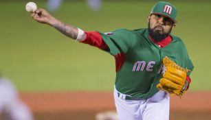 Sergio Romo lanza en la Serie del Caribe del 2017