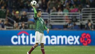 Ayala, durante el juego frente a Bosnia