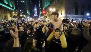 Fan de Philadelphia Eagles festejan campeonato