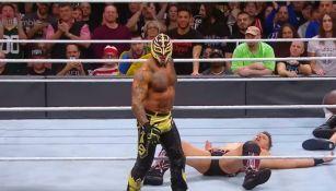 Rey Mysterio durante su aparición en el Royal Rumble 2018