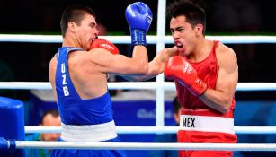 Misael Rodríguez (der.), boxeador amateur que brilló en los Olímpicos de Río 2016