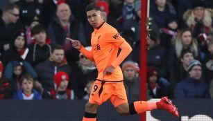 Roberto Firmino festeja su gol contra el Southampton